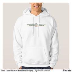 Ford Thunderbird Emblem/ Logo 50s Car Hoodie #zazzle #MrTbird #thunderbird #fordclassiccars #1950s #classiccars #giftsformen