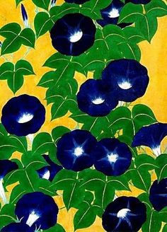 Suzuki Kiitsu, Morning Glories (detail), 1840s, The Metropolitan Museum of