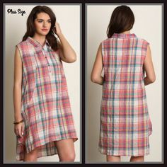 Springtime Plaid Dress Plus Size