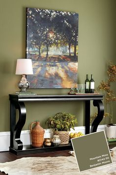 Image result for olive accent wall