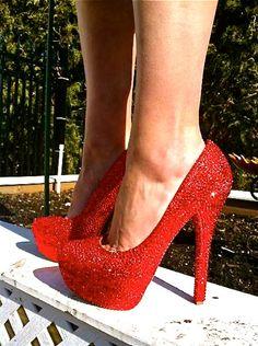 Red Hot Swarovski Crystal Heels