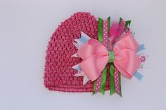 A personal favorite from my Etsy shop https://www.etsy.com/listing/287665467/babytoddler-crochet-hat-with-bow