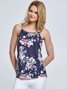0c5ff952488d2 Dresswel Women Floral Print Shirt Tanks Tops