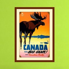 12' x 16' Canada Art Hunting Decor Canada Poster  by EasternVibes