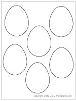 first palette - great kids craft sight with wonderful printables   Plain easter egg template