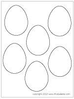 Medium-sized plain eggs (Set of 6)