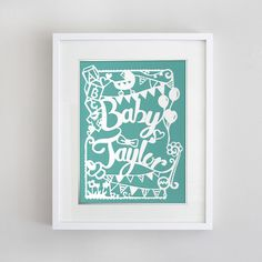 8 1/2 x 11 in Custom Papercut Wonderland by EpicLayers on Etsy, $50.00