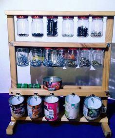 Spice Rack Plano Diy Spray Paint Shelf Holds 117 Cans  Pinterest  Spray Paint