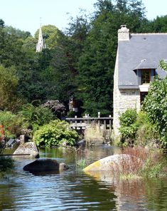 l'Aven et tous ces petits ponts - Pont-Aven, Bretagne
