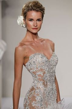 Pnina Tornai - Love this top but I think it would be cute to put a blush lining in it instead of it being nude