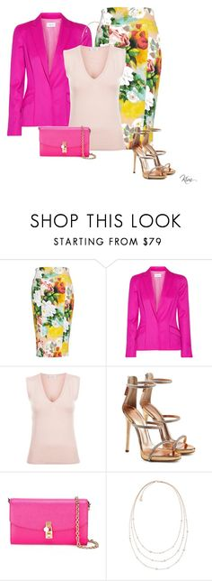 """Pink"" by ksims-1 ❤ liked on Polyvore featuring Melissa McCarthy Seven7, Thierry Mugler, Giuseppe Zanotti, Dolce&Gabbana, Michael Kors and plus size clothing"