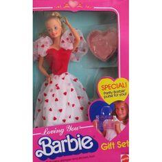 Amazon.com: Loving You BARBIE DOLL Gift Set w Child Size Purse & MORE! (1983 (Mattel Hawthorne): Toys & Games