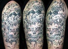 skull arm tat