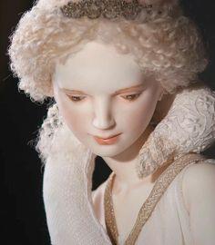 Porcelain doll of Oksana Sakharova. Leda, 65cm