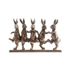 Bronze Dancing Hares Ornament