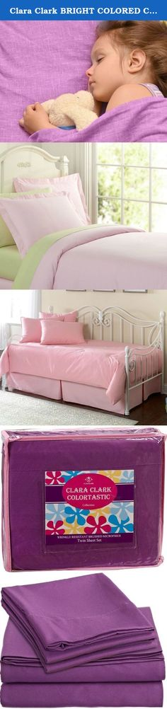 "Clara Clark BRIGHT COLORED Complete Bed Sheet Set, Kids, Children, Teens, Boys and Girls Personal Microfiber Soft and Comfortable - Full Size, Striking Purple Color. CLARA CLARK PRODUCT DESCRIPTION ""CLARA CLARK"" Clara Clark is known worldwide providing high quality product for those who are longing for an upscale living. SOLID BED SHEET SET Longing for an upgrade in bedding comfort and design? Reward yourself with a delectable sleeping experience. Impeccably soft and smooth, this chic..."