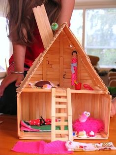 Popsicle Stick Buildings | Popsicle Stick Crafts