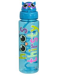 Owl Critter Cap Water Bottle   Girls Water Bottles Accessories   Shop Justice