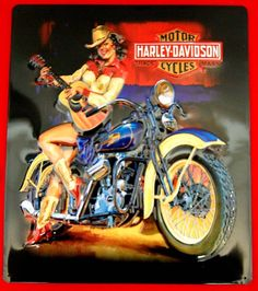 Cow-Lady on Harley
