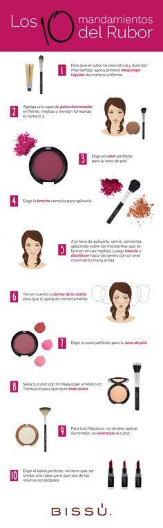 El rubor es un complemento muy importante en tu maquillaje, dale un buen uso y brillarás a donde vayas.