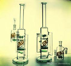 2016 2017 Flow Logo Glass Bongs With Sprinkler Percolator Recycler Oil Rig Glass…