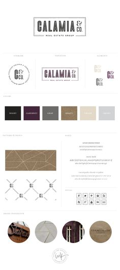 Brand Launch: Calamia & Co. Real Estate Group - Salted Ink Design Co.  Really like the mix of fonts and the final brand - logo and colors