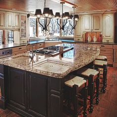 island cooktop kitchen - Google Search