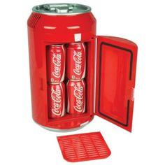 Portable Coca-Cola Can Refrigerator Compact Mini Red Electric Coke Soda Fridge in Home & Garden, Major Appliances, Refrigerators & Freezers Coke Cooler, Mini Cooler, Fridge Cooler, Ac Dc, Coca Cola Mini, Portable Mini Fridge, Thermoelectric Cooling, Sims, Necklaces