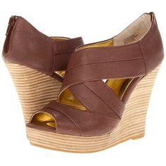 980e5d82655 Seychelles Risky Business (Whiskey) Women s Wedge Shoes ( 40) ❤ liked on  Polyvore