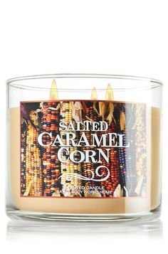 Salted Caramel Corn 3-Wick Candle - Home Fragrance - Bath & Body Works