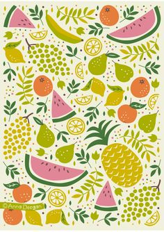Fruit Mix by Anna Deegan, via Behance