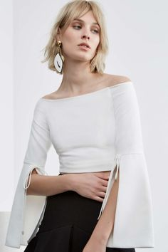 HAVE IT ALL LONG SLEEVE TOP ivory