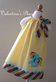 Adorable mi pequeño pony Rainbow Dash inspirado Vestido de