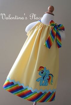 Adorable My little pony Rainbow Dash inspired pillowcase dress on Etsy, $29.00