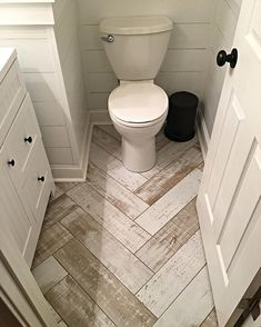 One of the first finished pics of our new plank line. Turned out great and an awesome value. #plank #herringbone #shiplap #porcelaintile #bathroom #remodel #renovate #tilefloor #tiledesign #TileFactoryOutlet #transformation #Adairsville #Suwanee