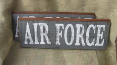 Distressed Wooden Air Force Sign by thesecondpea on Etsy, $18.00