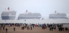 The Three Queens spectacle celebrates the famous shipping line's formation in its original home port
