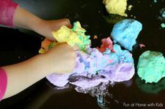 Rainbow Space Dough has been a popular project on our site FOREVER. You have to check it out! It's the coolest homemade playdough recipe you'll see all day!