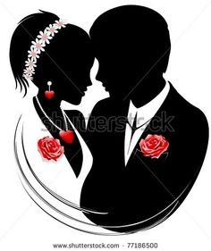 #Weddings #Married #Couple with #red #roses © #Bluedarkat - on #Shutterstock!