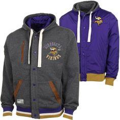 Minnesota Vikings Legacy Reversible Hoodie - Gray/Purple