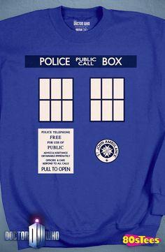 Doctor Who Tardis Sweatshirt: Doctor Who Mens Sweatshirt