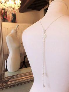 """Collier bijou de dos mariage """"Elena"""" : Collier par les-bijoux-d-aki"""