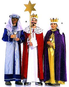 Find Burda Style, 3 Holy Kings at Simplicity, plus many more unique crafts & crafts projects, supplies, tools & more. Nativity Costumes, Diy Costumes, Cosplay Costumes, Halloween Costumes, Costume Ideas, Christmas Pageant, Christmas Program, Christmas Costumes, Ideas