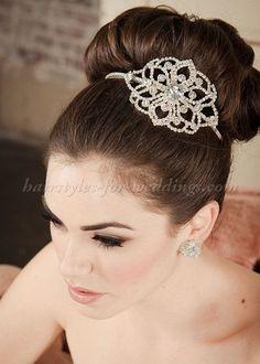 high+bun+wedding+hairstyles,+tup+bun+hairstyles+for+brides+-+high+bun+wedding+hairstyle
