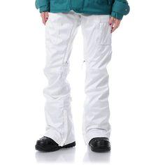 Burton Indulgence White 2013 10K Girls Snowboard Pants