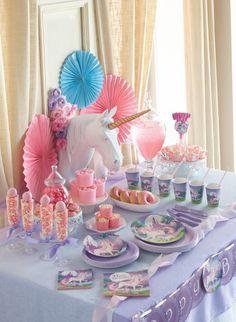 Einhorn Kindergeburtstags Party Deko Ideen