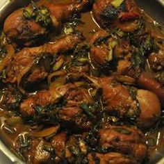 Herbs And Spices, Trini Style Chicken, This Is A Trinidadian Style Chicken With Bok Choy. It Is Tasty And Easy To Make.
