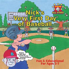 Nick's Very First Day of Baseball Children's Book from The Hometown All Stars Series. Hard Copy. The perfect bedtime reading book to inspire kids to get outside and play ball!