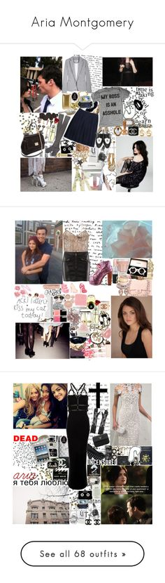 """""""Aria Montgomery"""" by mademoisellegabriellecoco ❤ liked on Polyvore featuring Maison Margiela, Beauty Secrets, Lands' End, Chanel, Dolce&Gabbana, Hansel from Basel, Ranjana Khan, Anderson's Belts, Marina Fossati and Incase"""