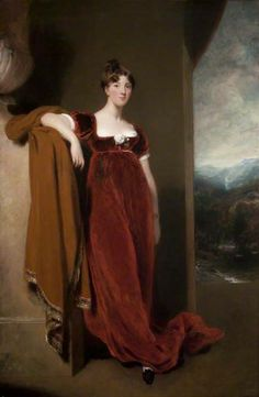 Early Regency Countess. Sometimes less is more, especially if it involves velvet.